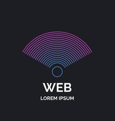 wireless network sign on dark background vector image