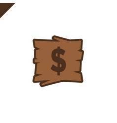 Wooden alphabet blocks with dollar symbol in wood vector