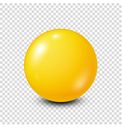 Yellow lottery billiardpool ball snooker vector