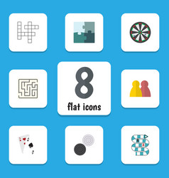 flat icon entertainment set of arrow guess vector image vector image