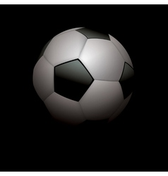Football Soccer Ball on Black vector image vector image