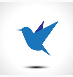 hummingbird icon isolated on white vector image vector image