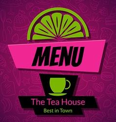 Modern Tea House Menu Card Design template vector image