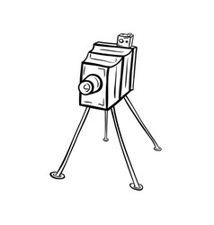 old photocamera19th century vector image vector image