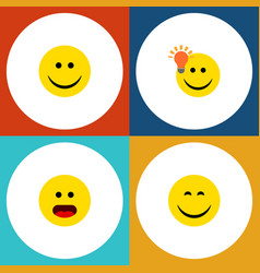 Flat icon expression set of wonder have an good vector