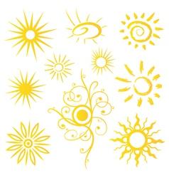Sun sunshine weather vector