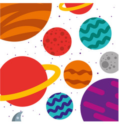 universe milky way background vector image