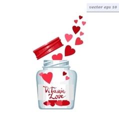 vitamin love can vector image