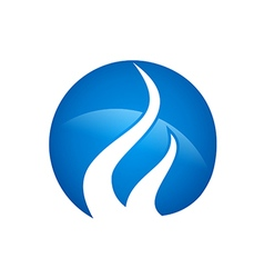 blue gas abstract logo vector image vector image