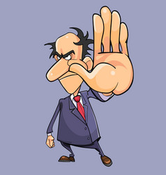 cartoon angry man in a suit with a tie getting vector image vector image