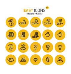 easy icons 11c money vector image vector image