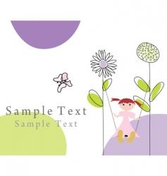 greetings card vector image