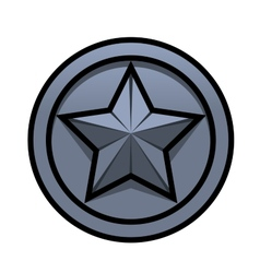 Iron star vector image vector image