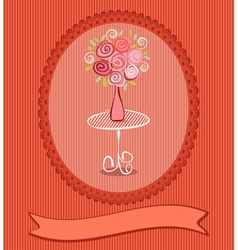 Roses postcard vector image