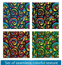 Seamless abstract pattern Colorful texture vector image vector image