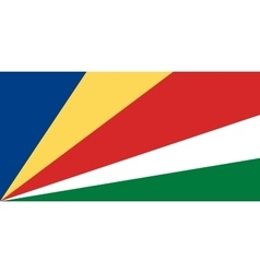 Seychelles flag in correct proportions and colors vector image vector image