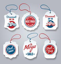 shopping pricing tags set vector image