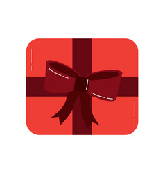 gift box present top view decoration vector image