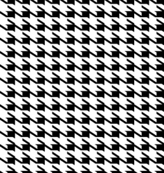 hounds tooth background vector image vector image