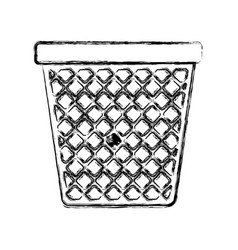 monochrome blurred silhouette of office trash can vector image