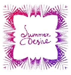summer desire vector image
