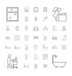 37 room icons vector