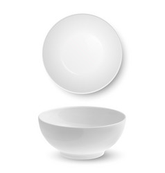 3d realistic white food empty and blank vector
