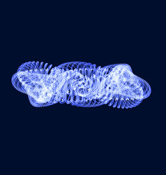 Abstract 3d mesh object biological object like a vector