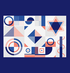 Abstract blue and orange geometric pattern vector
