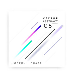 Abstract modern colorful shape vector