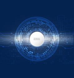 abstract technological on blue background vector image
