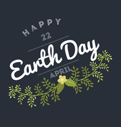 April 22 world earth day logotypes set for vector