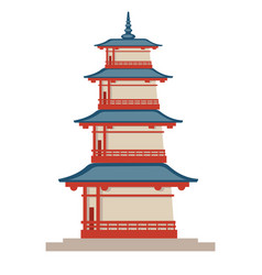 asian country architecture traditional vector image