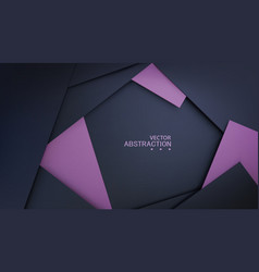 background with black paper layers and lilac vector image