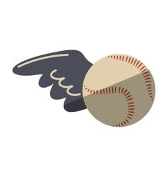 baseball ball equipment isolated icon vector image