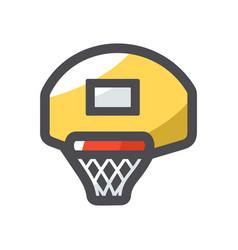 basketball backboard with a basket vector image