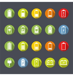 Battery Icons Flat Design vector