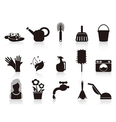 black household icons vector image