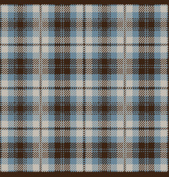 blue and brown tartan plaid seamless pattern vector image