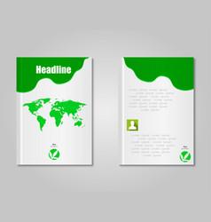 Brochure design template stylish vector
