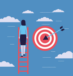 businesswoman success money vector image