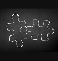 chalk drawn puzzles vector image