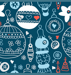 chalkboard pattern with christmas balls xmas art vector image
