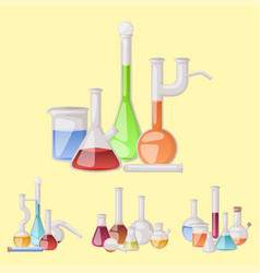chemical flask laboratory lab glassware vector image