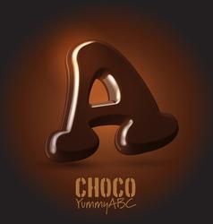 Chocolate typeset vector