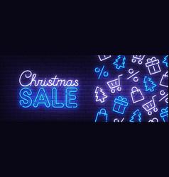 christmas sale web banner merry christmas vector image