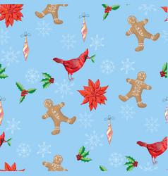 Christmas seamless pattern and christmas trees vector
