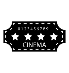 Cinema emblem icon simple style vector