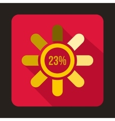 Circle loading 23 percent icon flat style vector