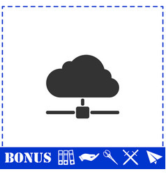 Cloud computingserver icon flat vector
